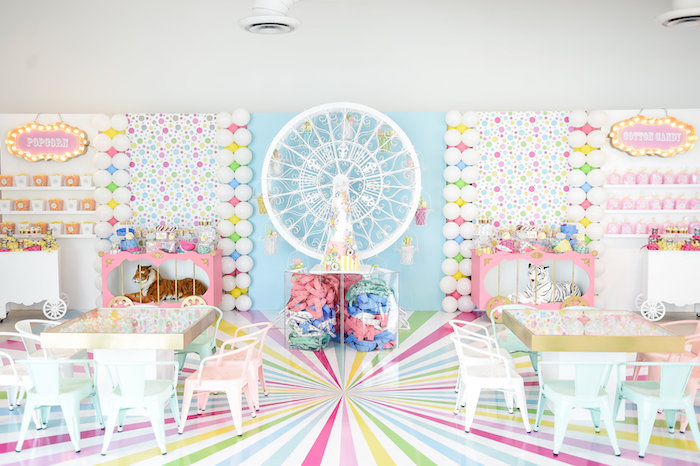 Girly Pastel Carnival Birthday Party on Kara's Party Ideas   KarasPartyIdeas.com (28)