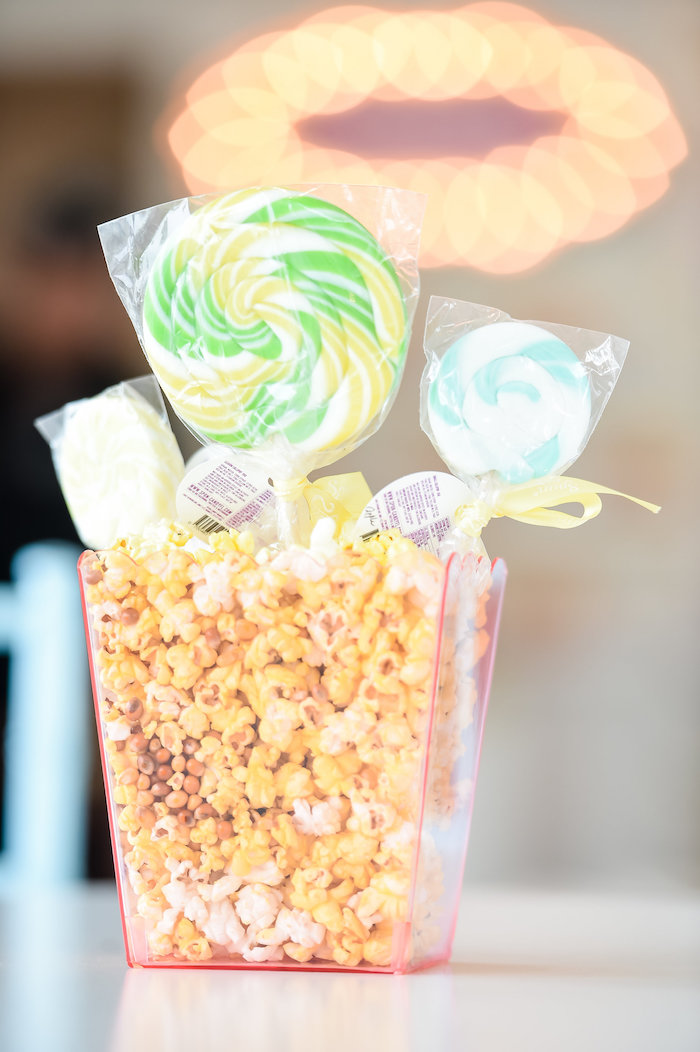 Lollipop Popcorn Centerpiece from a Girly Pastel Carnival Birthday Party on Kara's Party Ideas   KarasPartyIdeas.com (25)
