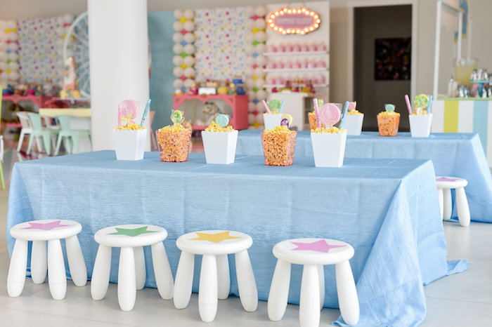 Star Guest Table from a Girly Pastel Carnival Birthday Party on Kara's Party Ideas   KarasPartyIdeas.com (23)