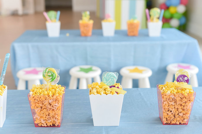 Popcorn Centerpieces from a Girly Pastel Carnival Birthday Party on Kara's Party Ideas   KarasPartyIdeas.com (22)