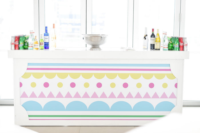 Beverage Bar from a Girly Pastel Carnival Birthday Party on Kara's Party Ideas   KarasPartyIdeas.com (17)