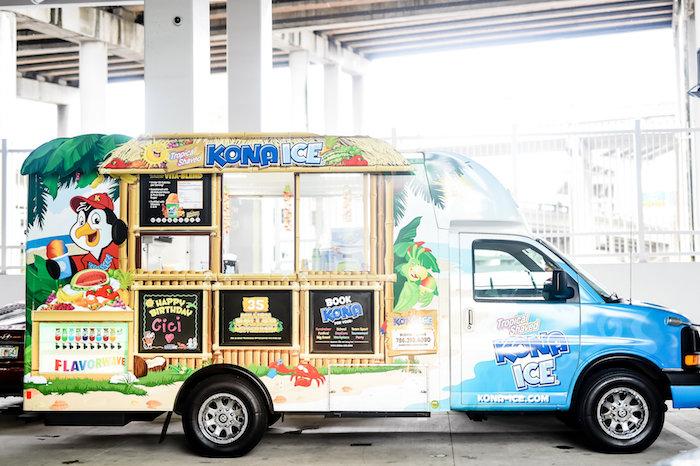 Kona Ice Truck from a Girly Pastel Carnival Birthday Party on Kara's Party Ideas   KarasPartyIdeas.com (12)