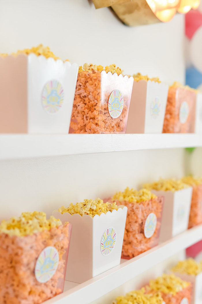 Popcorn Boxes from a Girly Pastel Carnival Birthday Party on Kara's Party Ideas   KarasPartyIdeas.com (10)