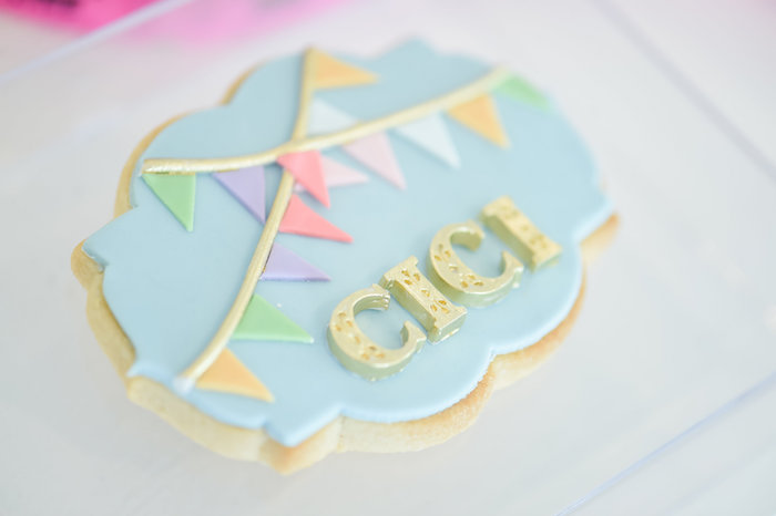 Circus Cookie from a Girly Pastel Carnival Birthday Party on Kara's Party Ideas   KarasPartyIdeas.com (7)