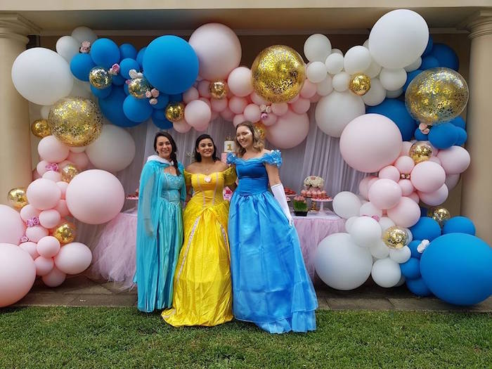 Princesses from a Glam Balloon Princess Birthday Party on Kara's Party Ideas | KarasPartyIdeas.com (10)