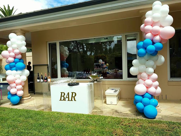 Balloon-filled Beverage Bar from a Glam Balloon Princess Birthday Party on Kara's Party Ideas | KarasPartyIdeas.com (9)