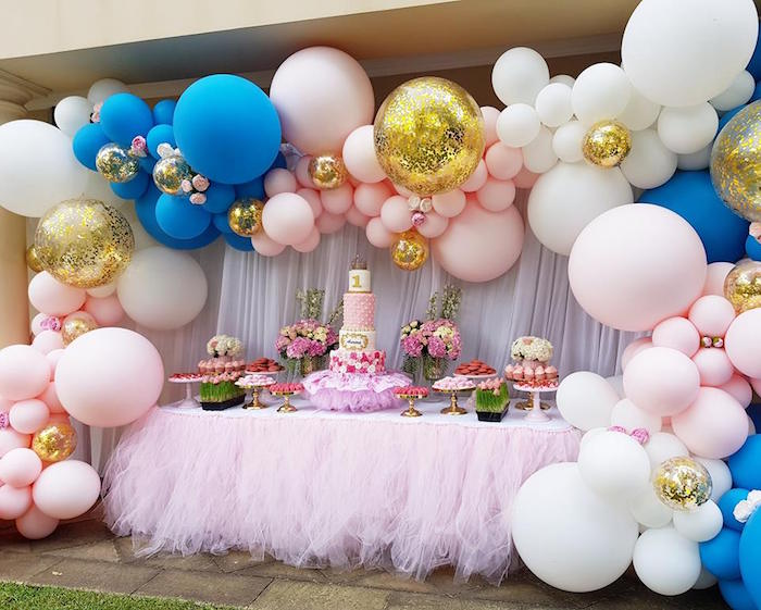 Glam Balloon Princess Birthday Party On Karas Ideas