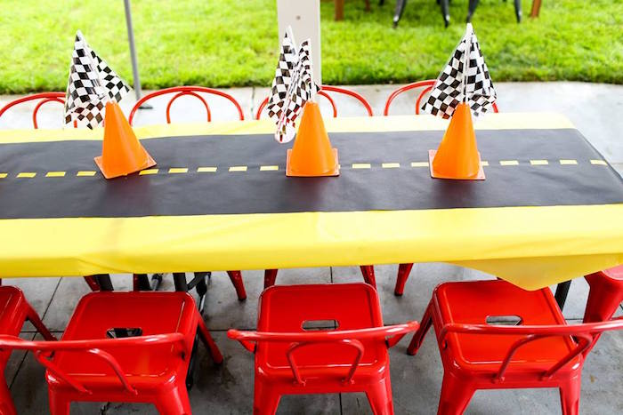 Kid Table from a Hot Wheels Car Birthday Party on Kara's Party Ideas | KarasPartyIdeas.com (41)