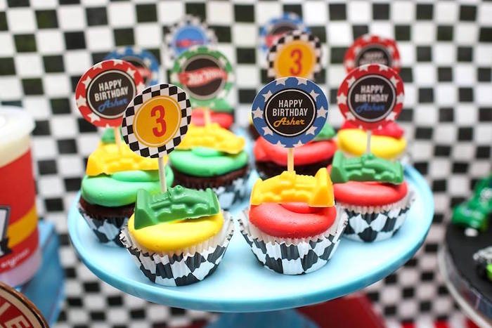 Pleasant Karas Party Ideas Hot Wheels Car Birthday Party Karas Party Ideas Funny Birthday Cards Online Chimdamsfinfo