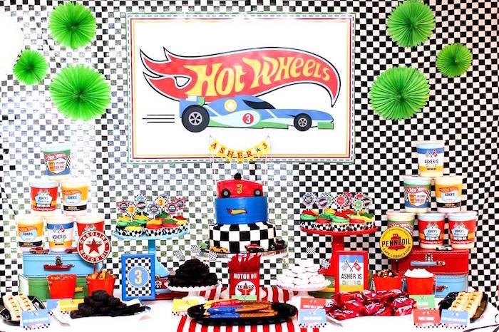 Hot Wheels Car Birthday Party on Kara's Party Ideas   KarasPartyIdeas.com (15)