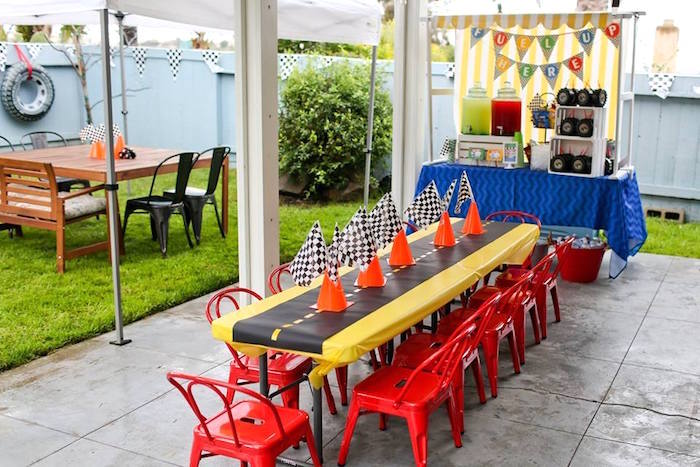 Party Tables from a Hot Wheels Car Birthday Party on Kara's Party Ideas | KarasPartyIdeas.com (14)
