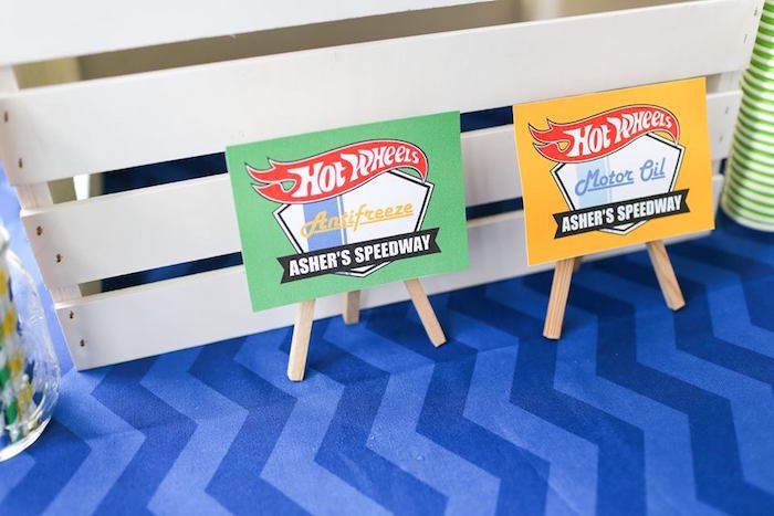 Beverage Signage from a Hot Wheels Car Birthday Party on Kara's Party Ideas | KarasPartyIdeas.com (12)