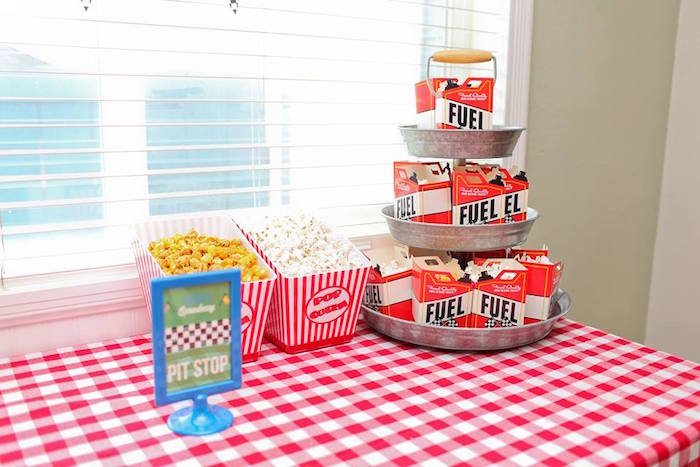 Pit Stop Snack Table from a Hot Wheels Car Birthday Party on Kara's Party Ideas | KarasPartyIdeas.com (8)