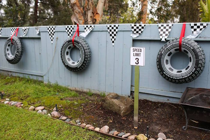 Inflatable Tire Banner + Signage from a Hot Wheels Car Birthday Party on Kara's Party Ideas | KarasPartyIdeas.com (33)