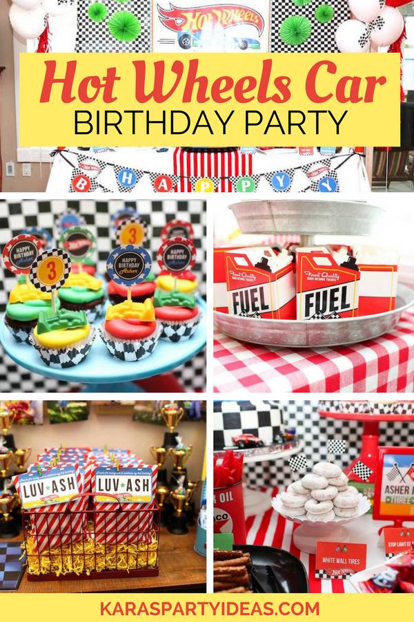 Hot Wheels Car Birthday Party via KarasPartyIdeas - KarasPartyIdeas.com