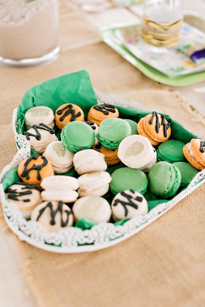 Jungle Macarons from a Jungle Animal Safari Birthday Party on Kara's Party Ideas | KarasPartyIdeas.com (21)