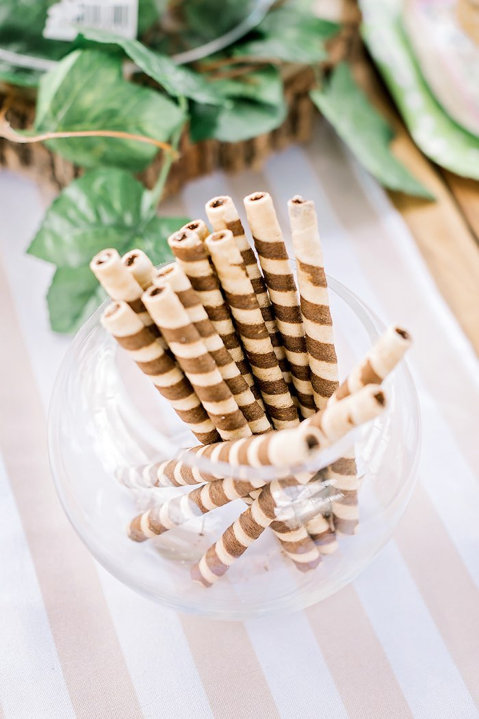 Pirouette Sticks from a Jungle Animal Safari Birthday Party on Kara's Party Ideas | KarasPartyIdeas.com (20)