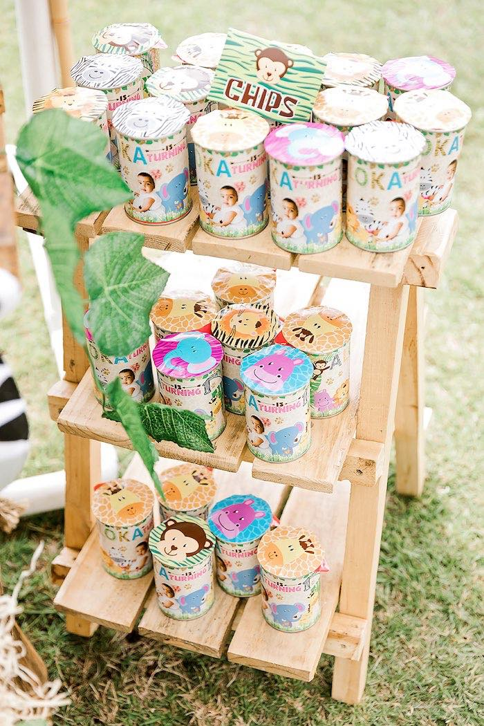 Jungle Party Favors from a Jungle Animal Safari Birthday Party on Kara's Party Ideas | KarasPartyIdeas.com (17)