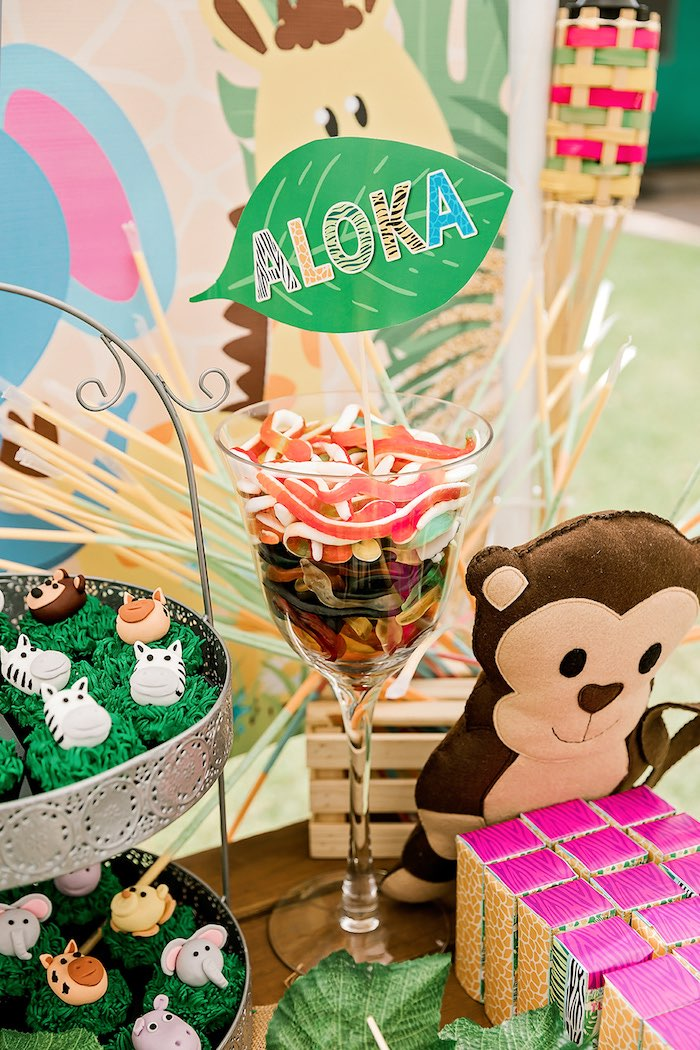 Pedestal Candy Cup from a Jungle Animal Safari Birthday Party on Kara's Party Ideas | KarasPartyIdeas.com (13)