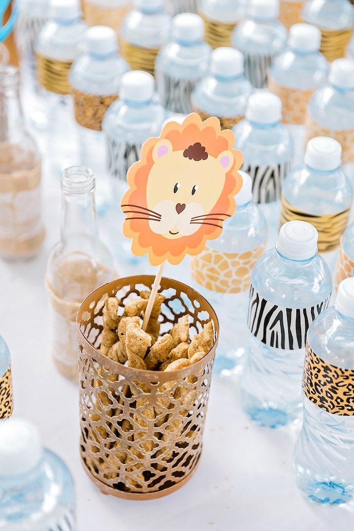 Lion Topper from a Jungle Animal Safari Birthday Party on Kara's Party Ideas | KarasPartyIdeas.com (11)