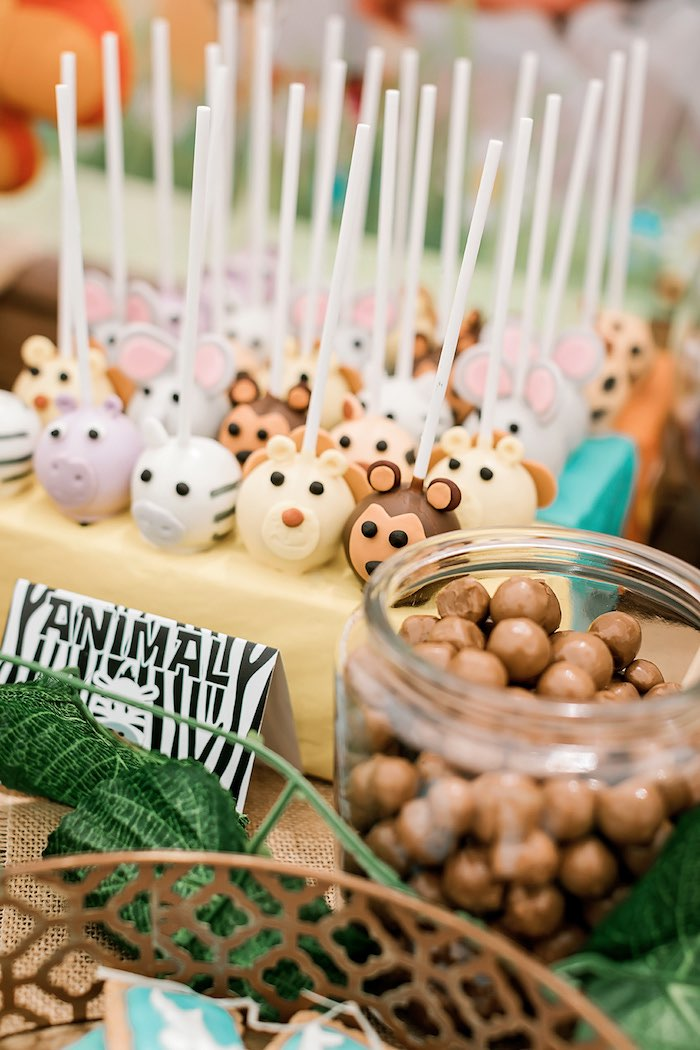 Jungle Animal Cake Pops from a Jungle Animal Safari Birthday Party on Kara's Party Ideas | KarasPartyIdeas.com (28)
