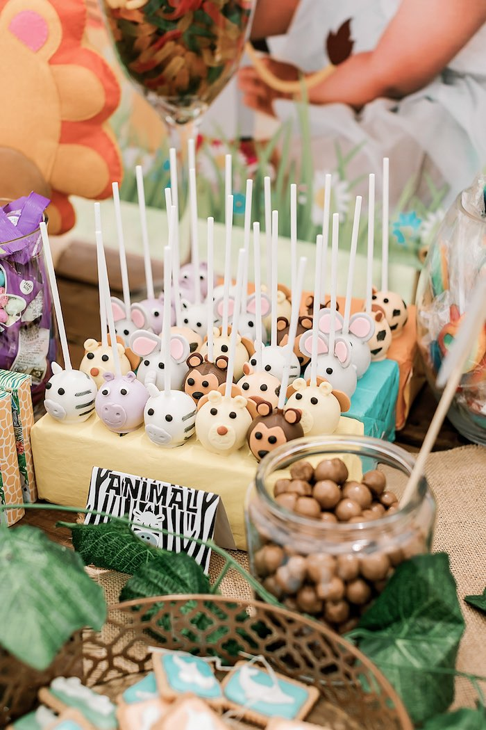 Jungle Animal Cake Pops from a Jungle Animal Safari Birthday Party on Kara's Party Ideas | KarasPartyIdeas.com (27)