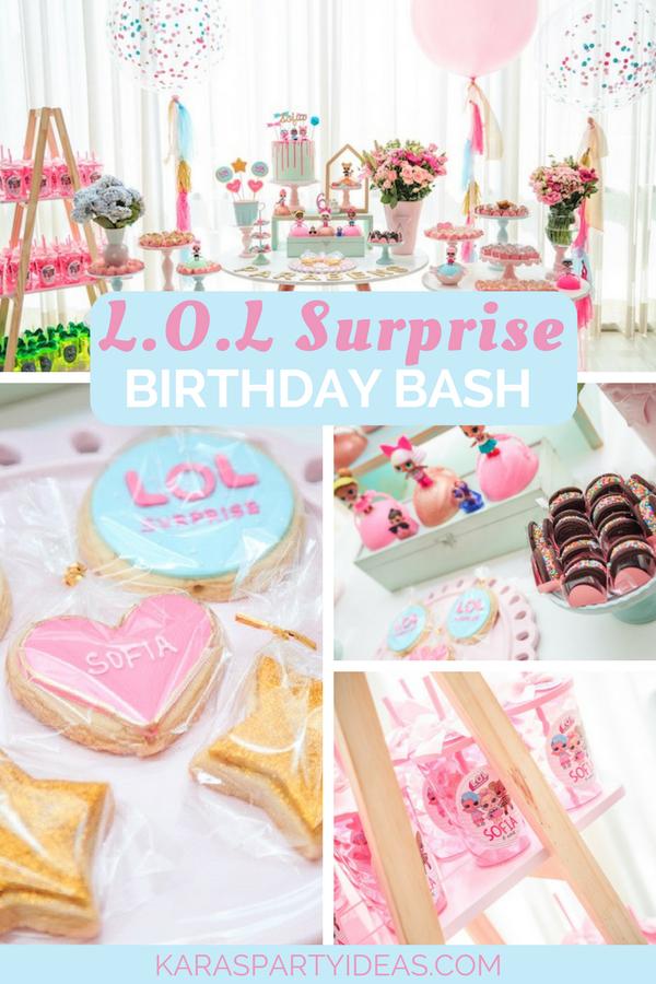 L.O.L. Surprise! Birthday Bash via KarasPartyIdeas - KarasPartyIdeas.com