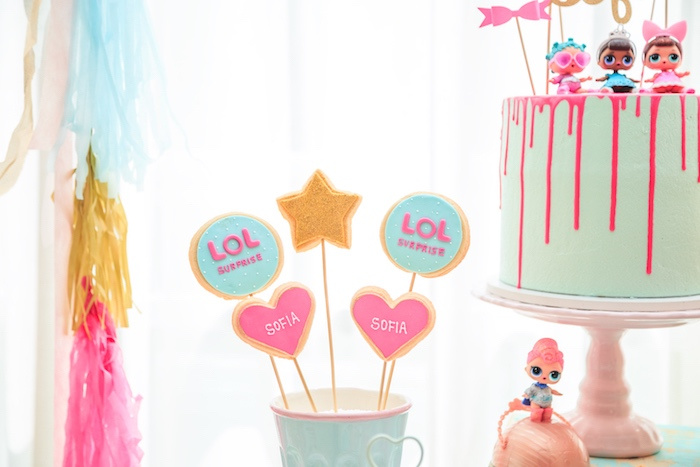 LOL Cookie Pops from a L.O.L. Surprise! Birthday Party on Kara's Party Ideas | KarasPartyIdeas.com (20)