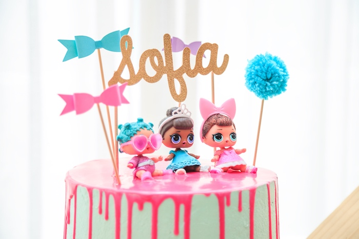 LOL Surprise Doll Cake Top from a L.O.L. Surprise! Birthday Party on Kara's Party Ideas | KarasPartyIdeas.com (12)