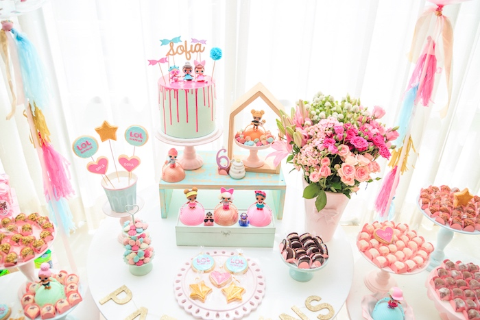 Cake Table from a L.O.L. Surprise! Birthday Party on Kara's Party Ideas | KarasPartyIdeas.com (10)
