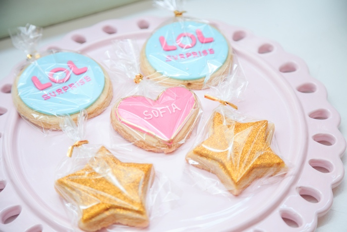 LOL Surprise Cookies from a L.O.L. Surprise! Birthday Party on Kara's Party Ideas | KarasPartyIdeas.com (8)