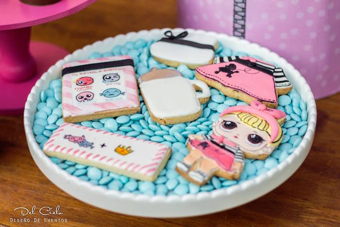 Cookies from a L.O.L. Surprise! Birthday Party on Kara's Party Ideas | KarasPartyIdeas.com (7)