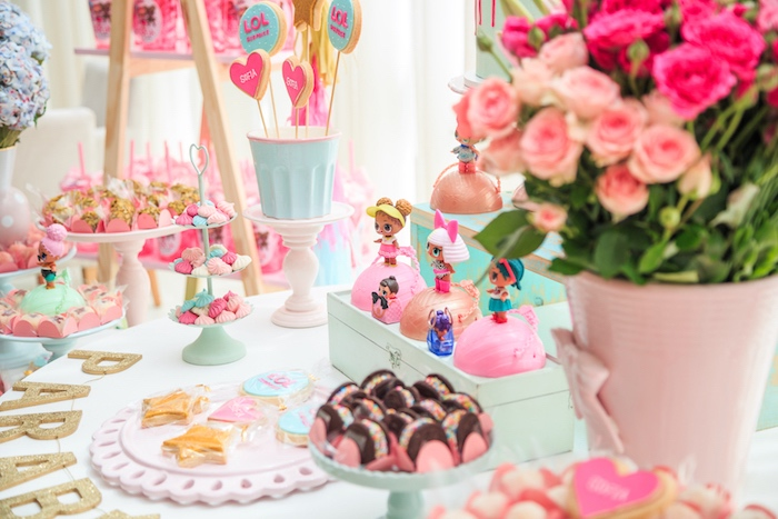 Lol Surprise Doll Dessert Table from a L.O.L. Surprise! Birthday Party on Kara's Party Ideas | KarasPartyIdeas.com (28)