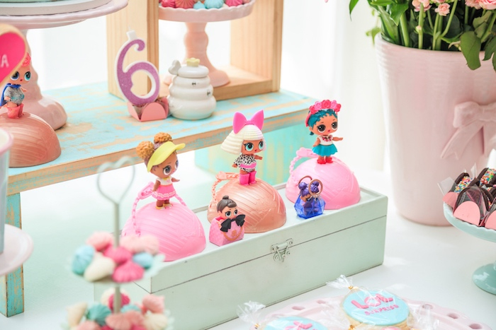 Doll Display from a L.O.L. Surprise! Birthday Party on Kara's Party Ideas | KarasPartyIdeas.com (23)