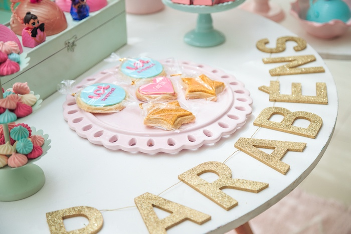 Glitter Letter Banner from a L.O.L. Surprise! Birthday Party on Kara's Party Ideas | KarasPartyIdeas.com (22)