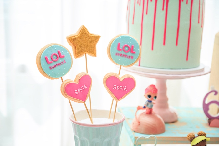 LOL Cookie Pops from a L.O.L. Surprise! Birthday Party on Kara's Party Ideas | KarasPartyIdeas.com (21)