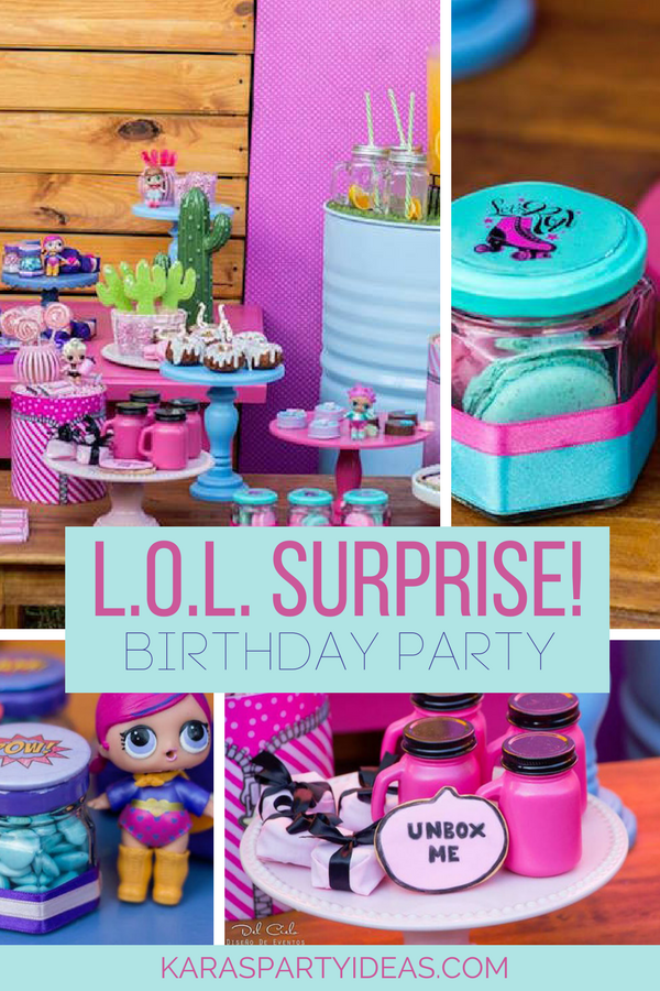 L.O.L. Surprise! Birthday Party via KarasPartyIdeas - KarasPartyIdeas.com