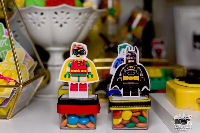 Batman Character Candy Boxes from a Lego Batman Birthday Party on Kara's Party Ideas | KarasPartyIdeas.com (11)