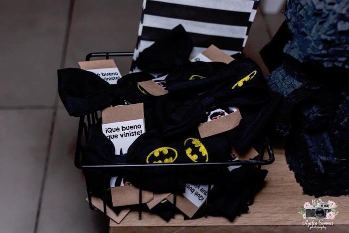 Batman Favors from a Lego Batman Birthday Party on Kara's Party Ideas | KarasPartyIdeas.com (10)