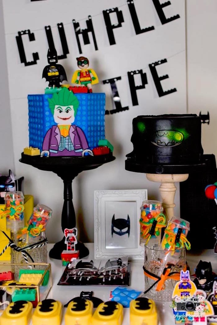 Lego Batman Cakes from a Lego Batman Birthday Party on Kara's Party Ideas | KarasPartyIdeas.com (6)