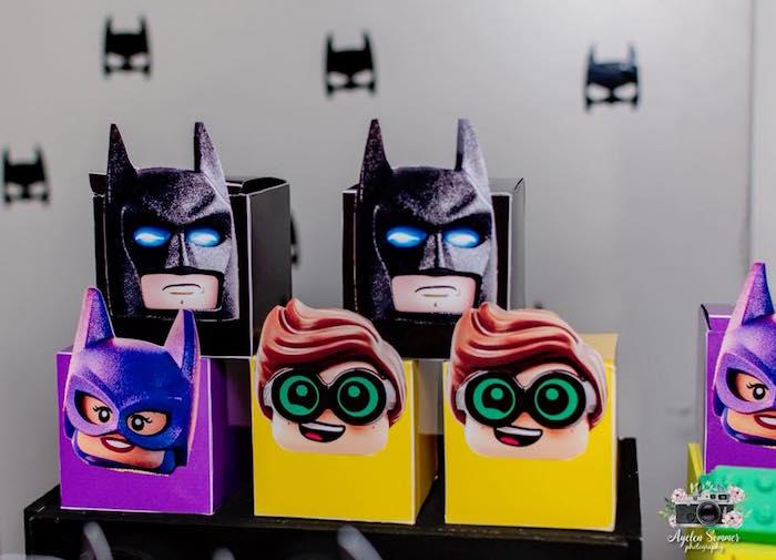 Batman Themed Favor + Lunch Boxes from a Lego Batman Birthday Party on Kara's Party Ideas | KarasPartyIdeas.com (5)