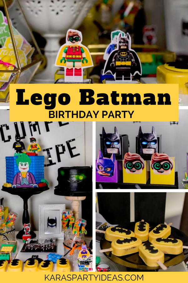 Lego Batman Birthday Party via KarasPartyIdeas - KarasPartyIdeas.com
