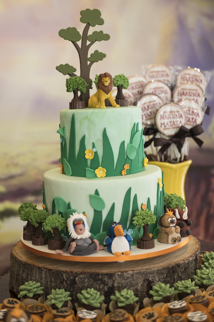 Lion King Cake from a Lion King Birthday Party on Kara's Party Ideas | KarasPartyIdeas.com (23)