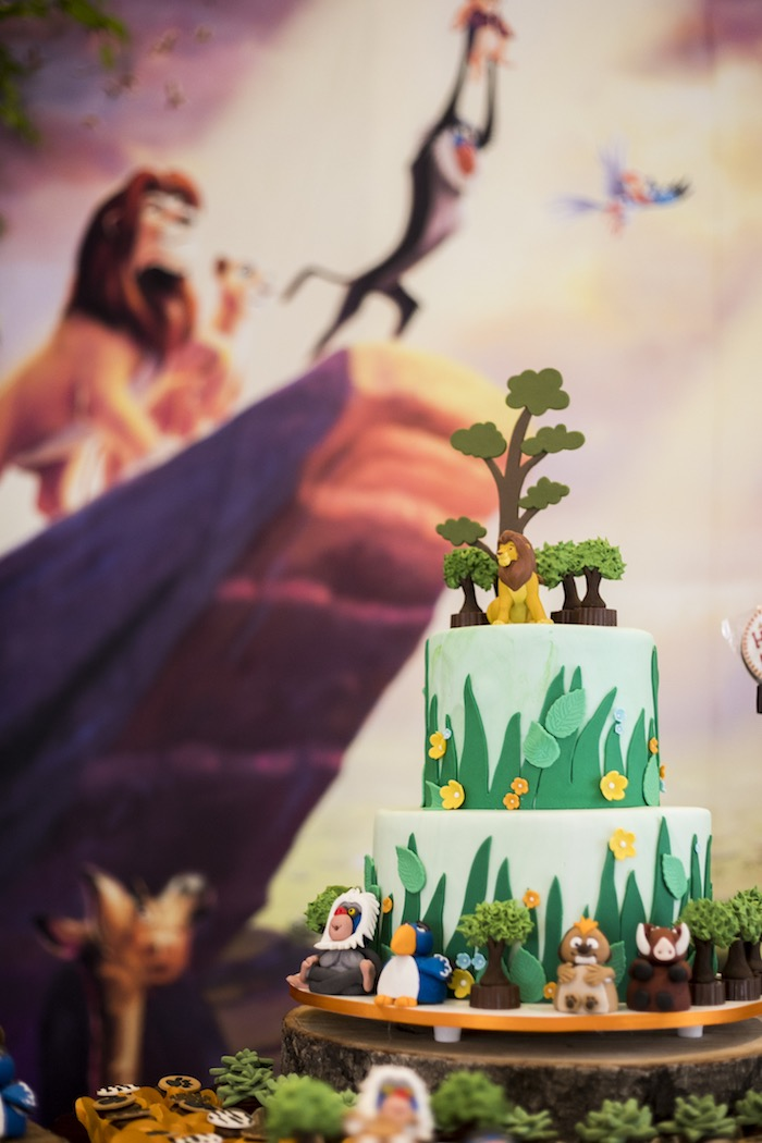 Lion King Cake from a Lion King Birthday Party on Kara's Party Ideas | KarasPartyIdeas.com (19)