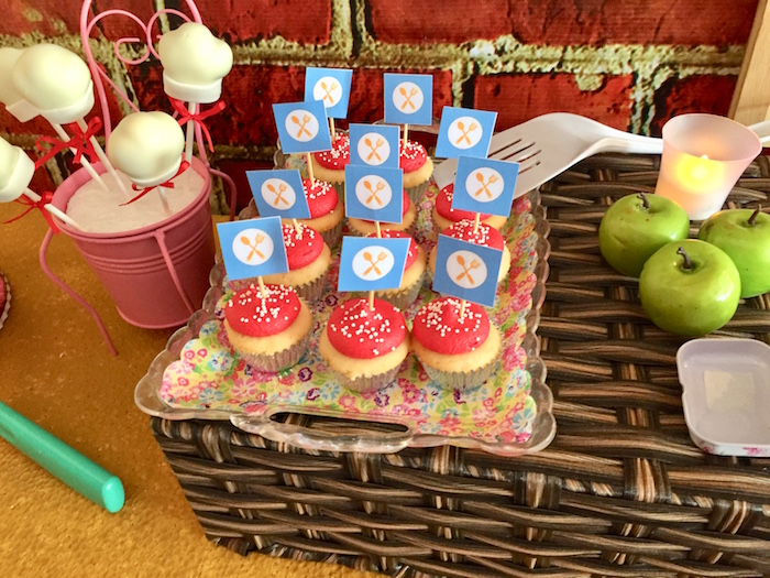 Cupcakes from a Little Chef Birthday Party on Kara's Party Ideas | KarasPartyIdeas.com (7)