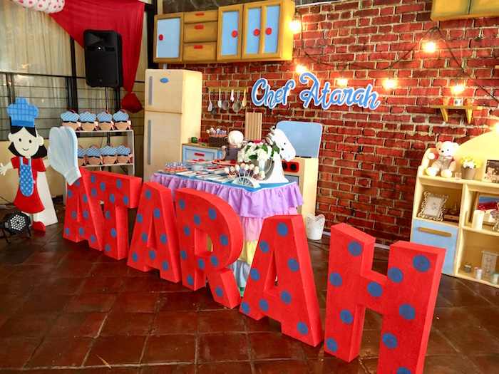 Polka Dot Letters from a Little Chef Birthday Party on Kara's Party Ideas | KarasPartyIdeas.com (18)