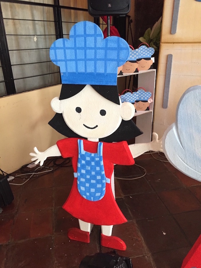 Little Chef Standee from a Little Chef Birthday Party on Kara's Party Ideas | KarasPartyIdeas.com (12)