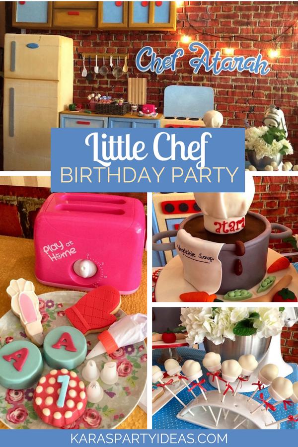 Little Chef Birthday Party via KarasPartyIdeas - KarasPartyIdeas.com