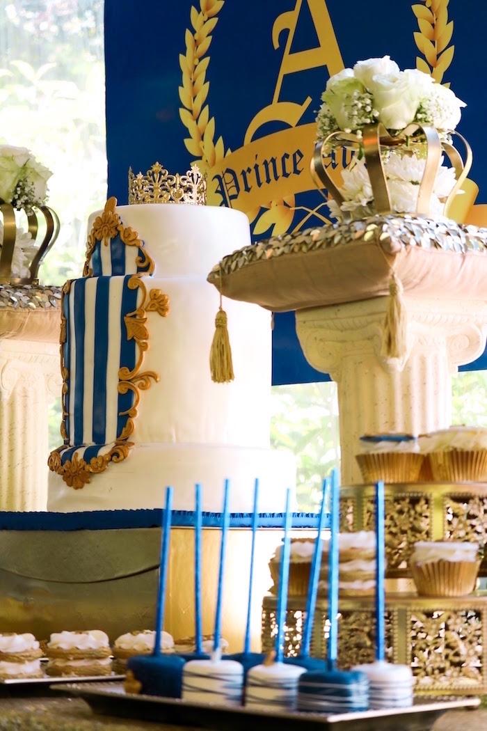 Little King Royal Baby Shower on Kara's Party Ideas   KarasPartyIdeas.com (5)