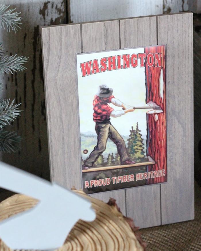Lumberjack Signage from a Lumberjack Birthday Bash on Kara's Party Ideas | KarasPartyIdeas.com (14)